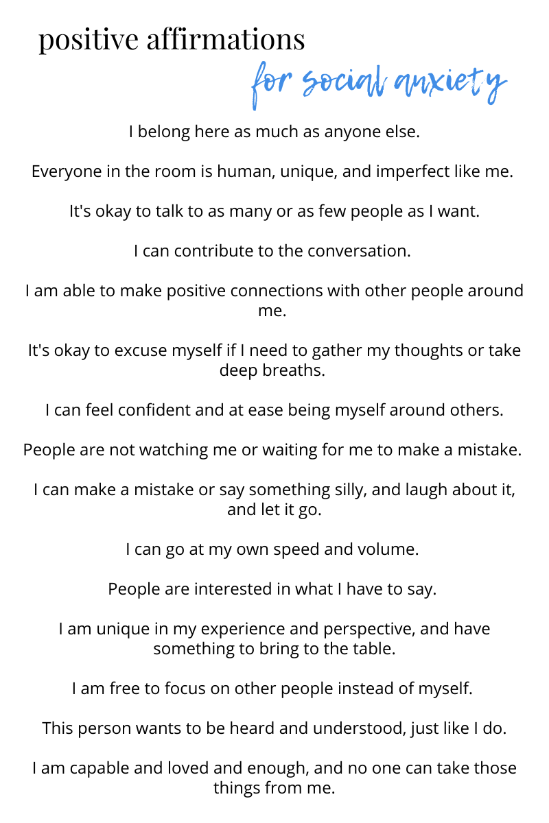 best affirmations for social anxiety ...