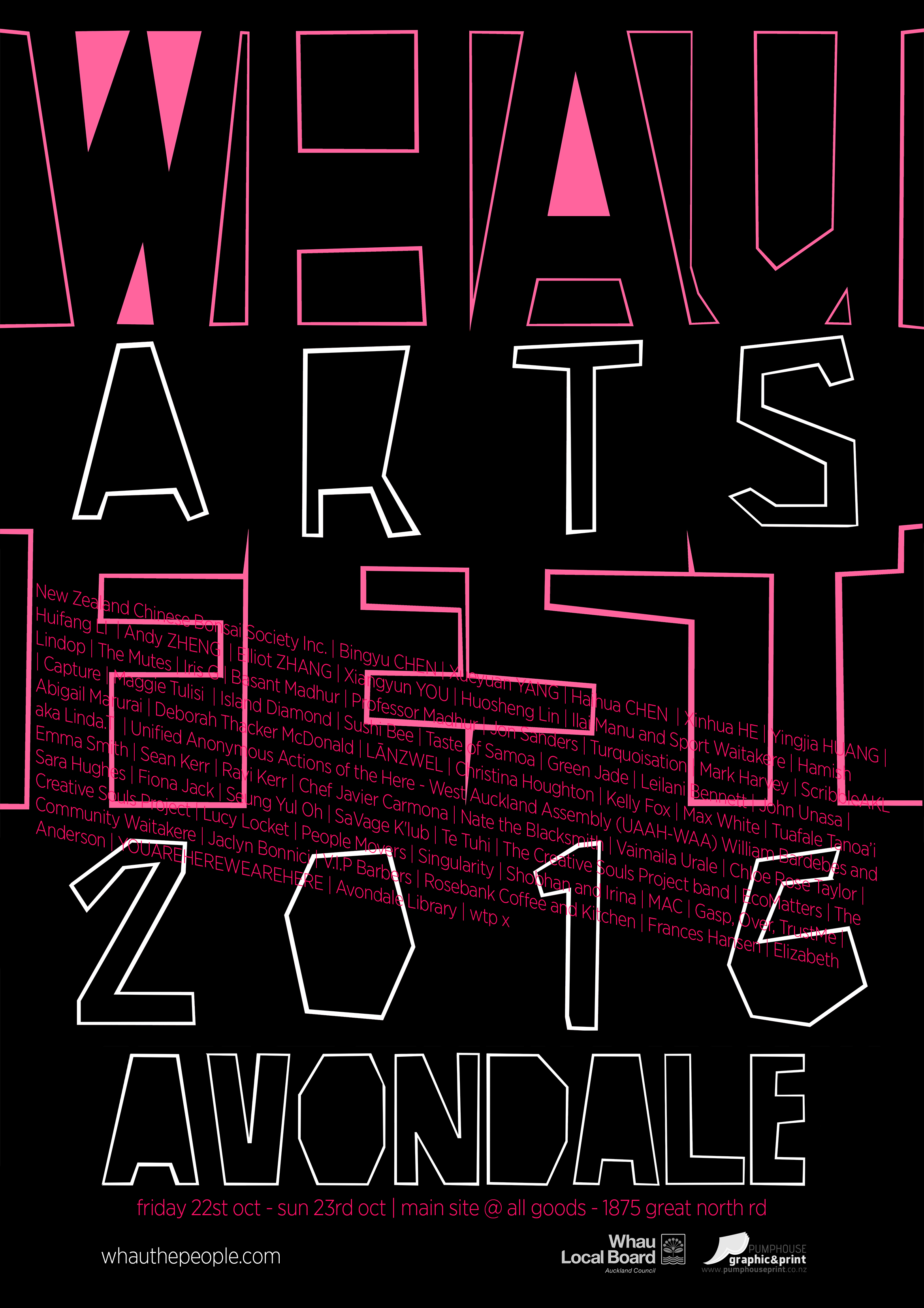 Whau Arts Festival 2016 – WHAU THE PEOPLE