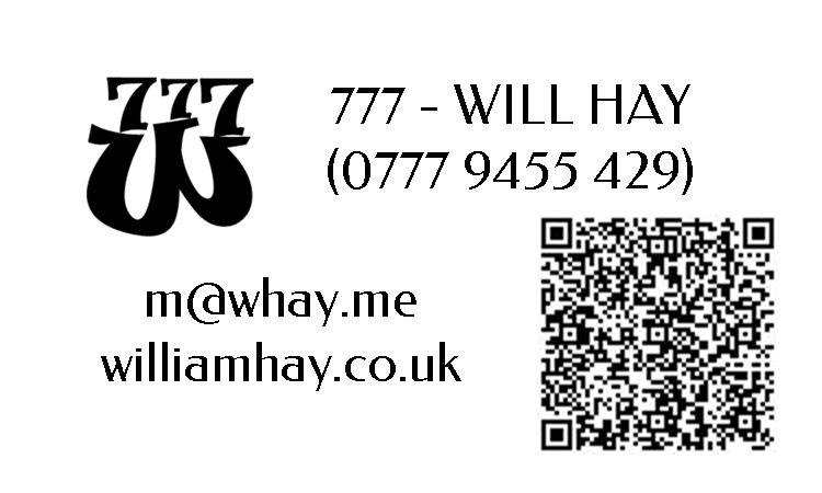 Contact Label with QR