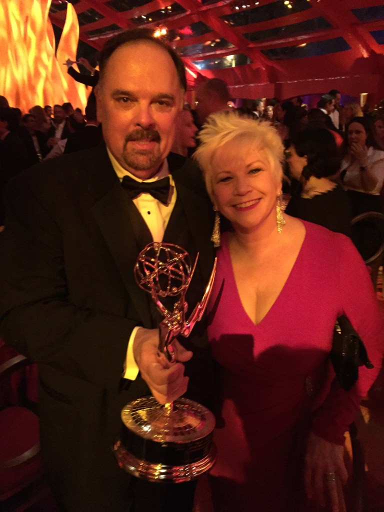 Producer Bill Hill with his Veep Emmys