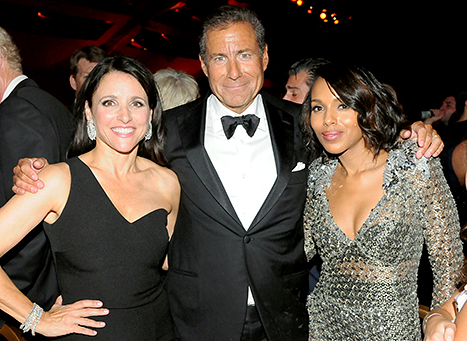 Julia Louis-Dreyfus, Chairman and CEO of HBO Richard Plepler, and Kerry Washington attend HBO's Official 2015 Emmy After Party. Credit: FilmMagic/FilmMagic.