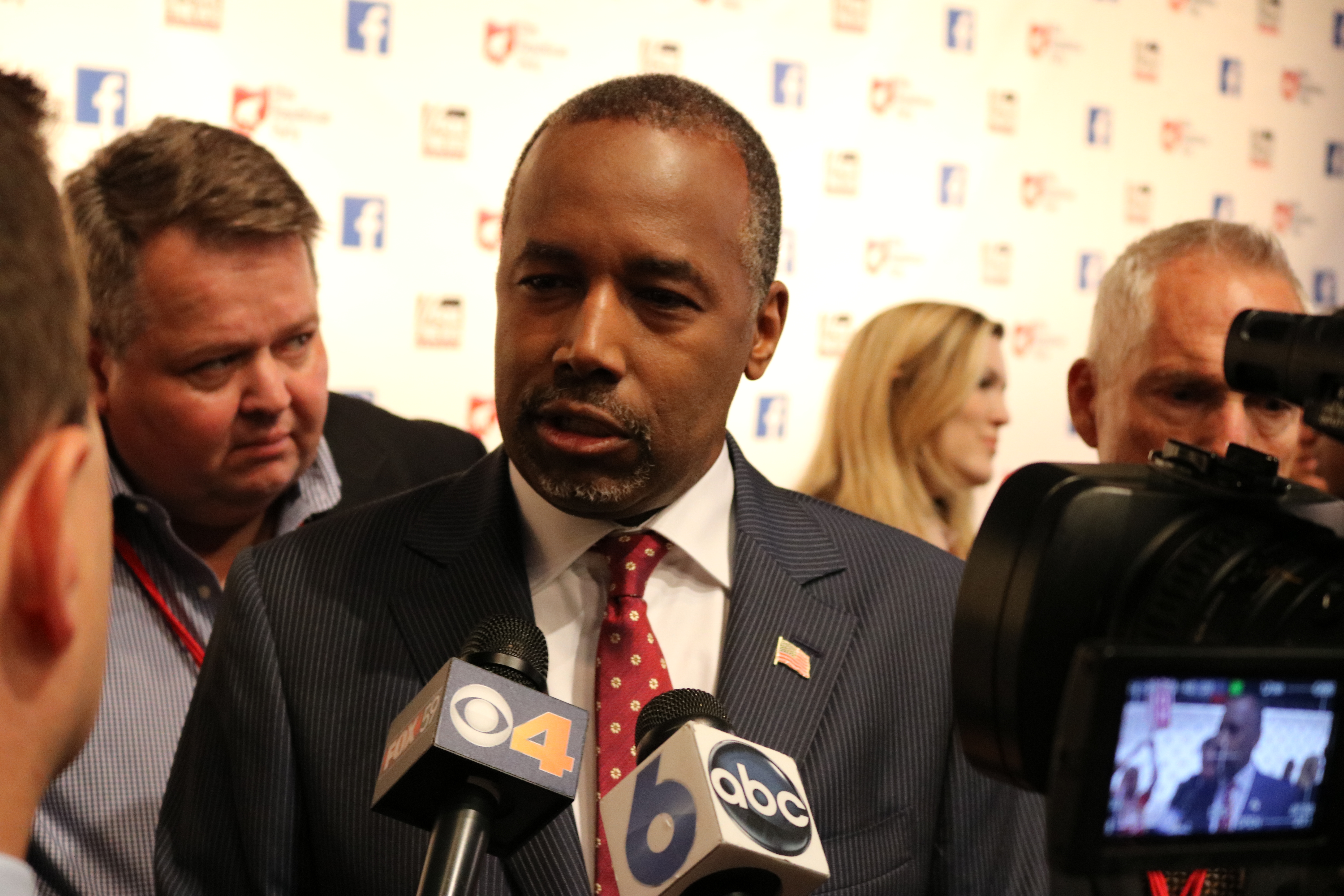 Ben Carson at the first Republican Primary Debate in Cleveland, Photo Courtesy of Haddad Media