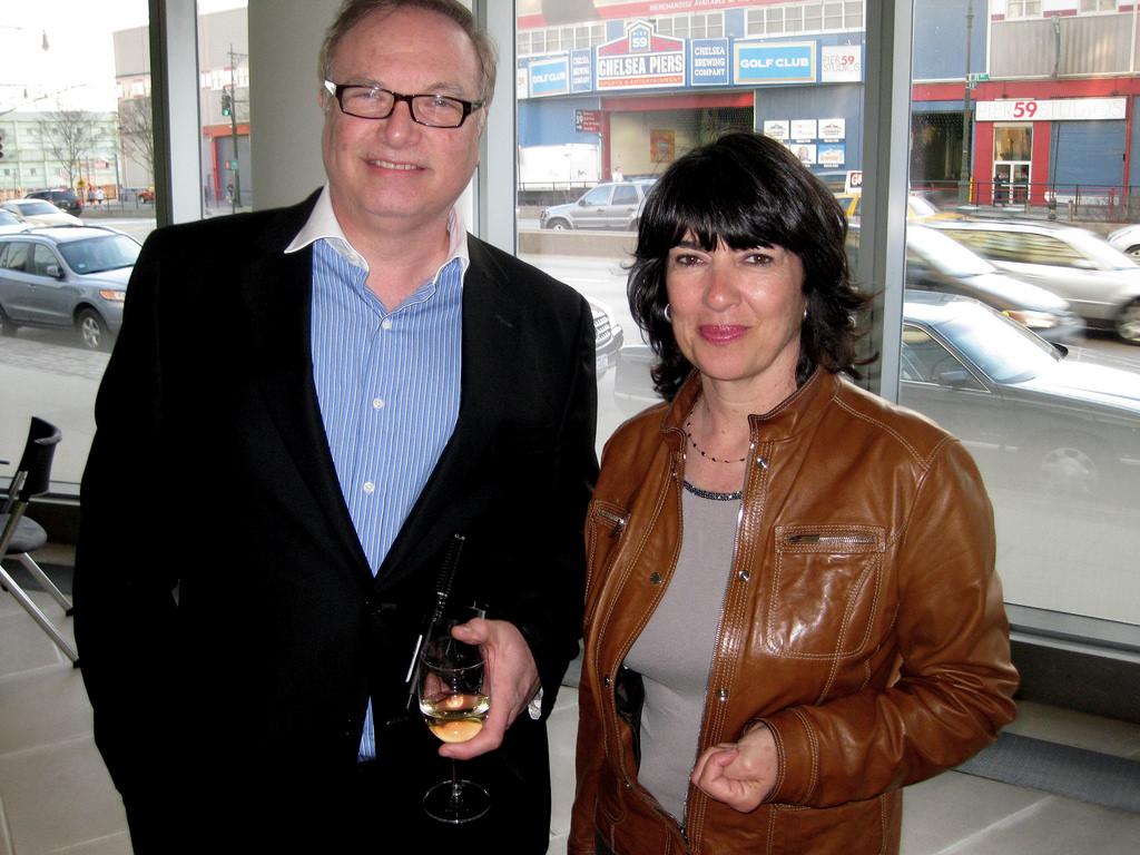 BizBash's David Adler and CNN's Christiane Amanpour. Photo courtesy of Haddad Media.
