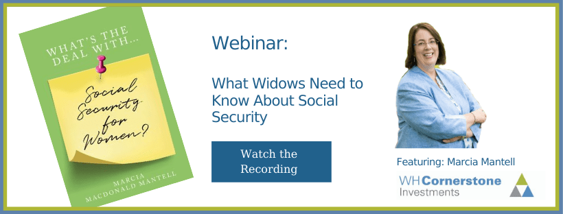 Watch webinar recording: What Widows Need to Know About Social Security