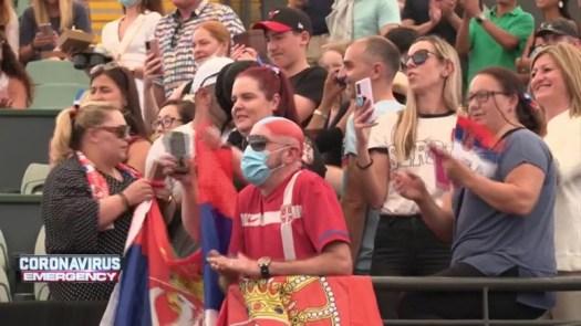 Maskless crowds pack Australian Open tennis exhibition in ...