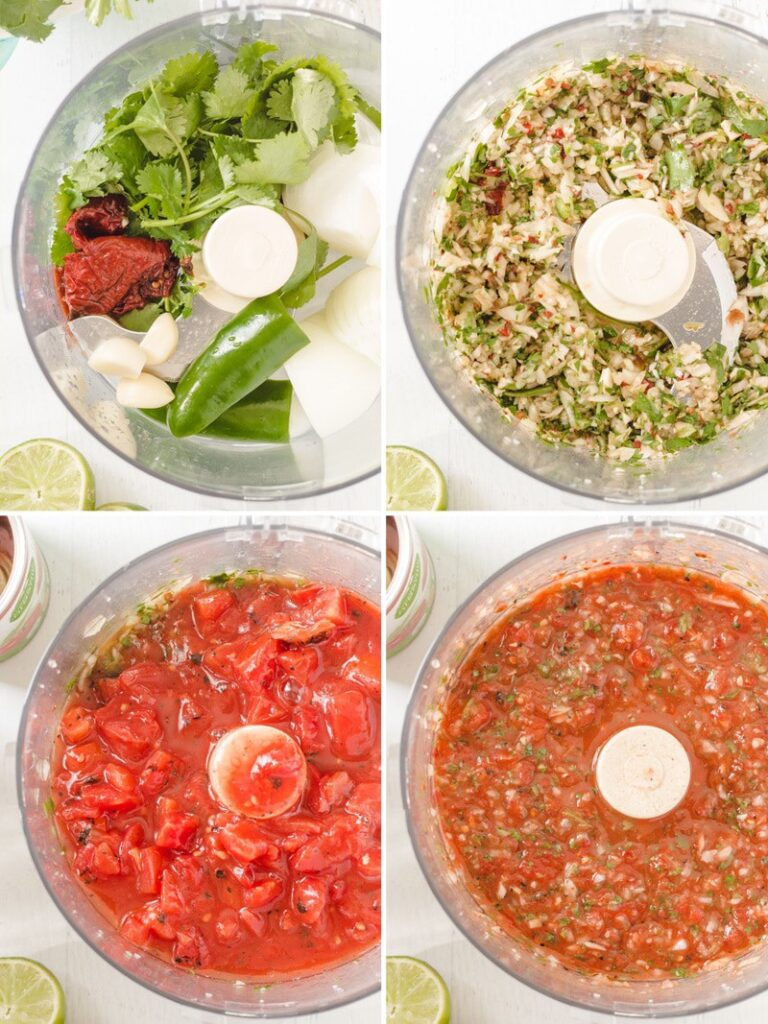 steps to make salsa in the food processor