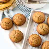 Whole Grain Gluten Free Banana Muffins