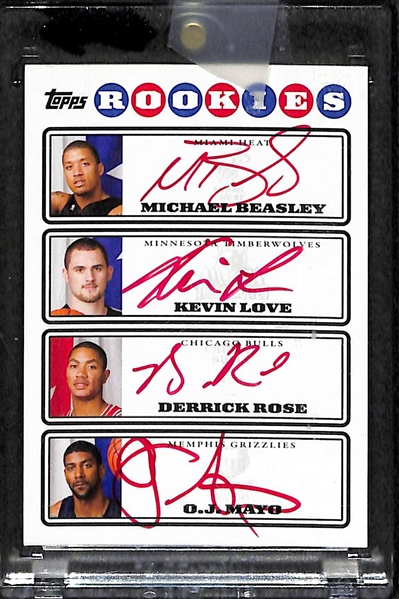Lot Detail - 2008-09 Topps Photo Shoot Quad Red Autograph ...