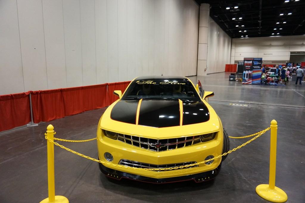 Yellow Sports Car at MTE