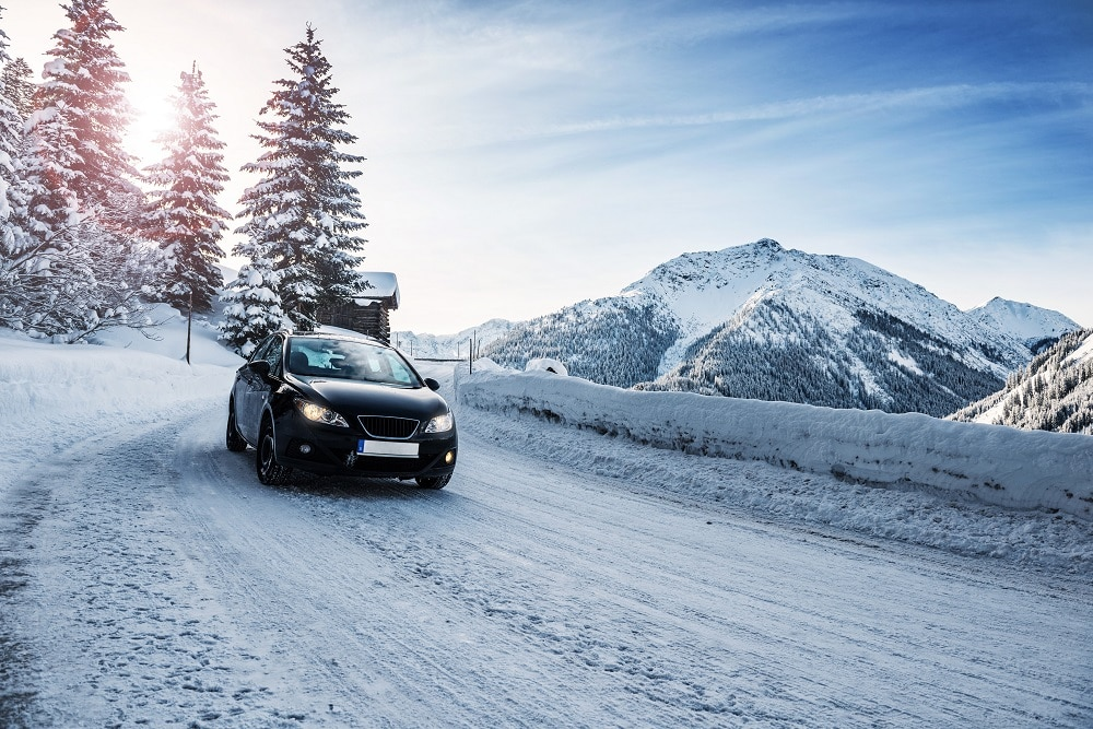 Car Driving in Snowy Conditions