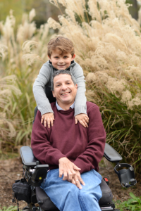 Wheelchair Dad and Son