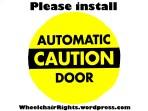 Please install Power door