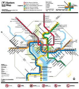 Real Dc Subway Map.Washington D C Wheelchair Accessible Public Transportation