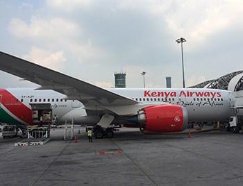 Kenya Airways 787 in Bangkok