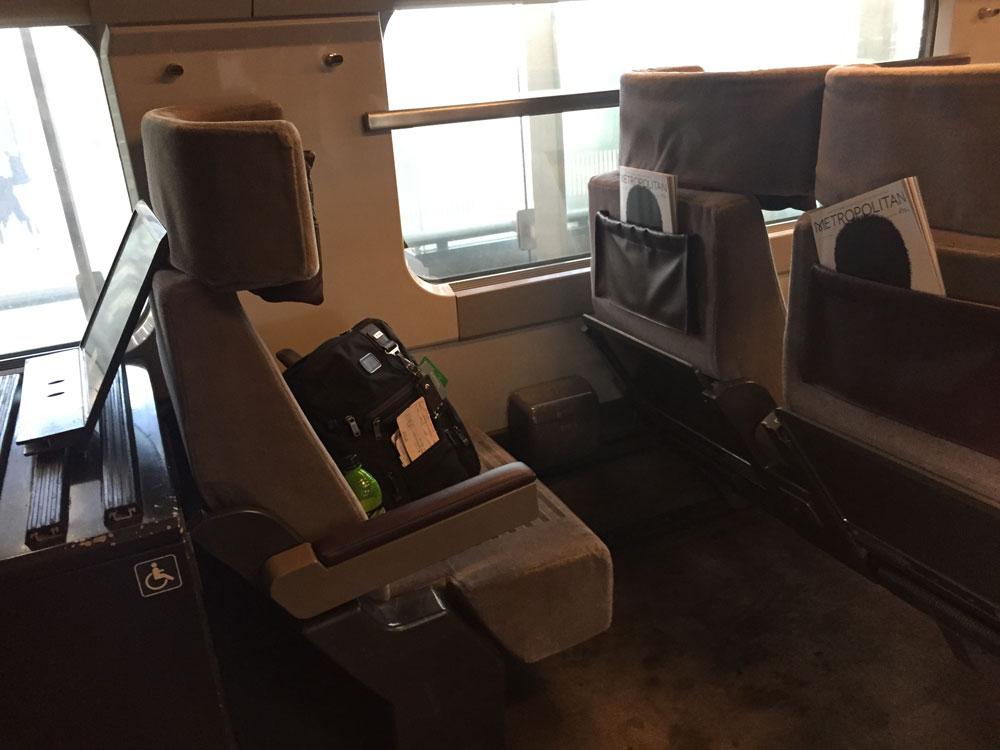 Eurostar Train Wheelchair Space, Photo by John Morris