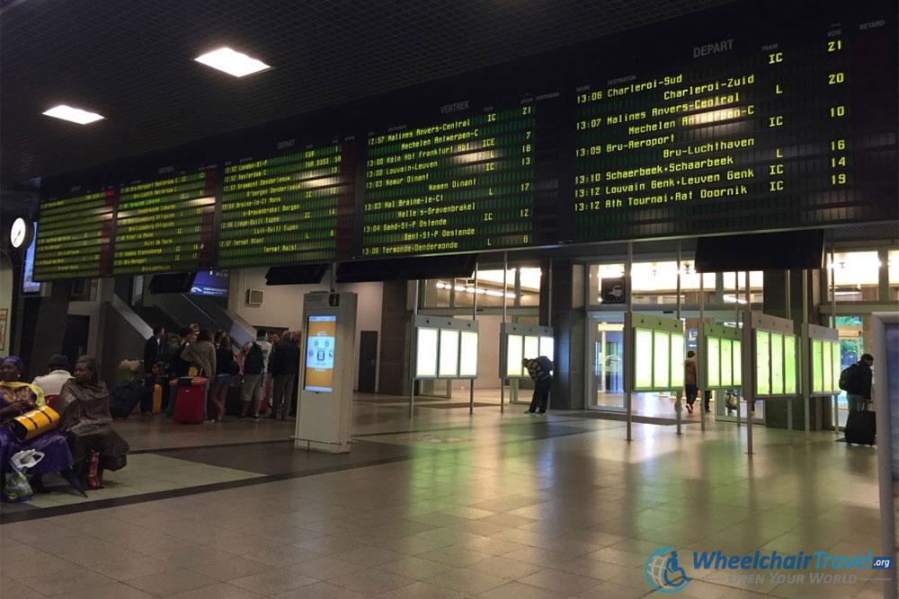 Brussels Midi Train Station Departures Board