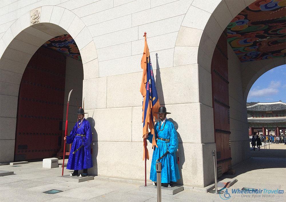 Gyeongbokgung Palace, Seoul Wheelchair Accessible Travel Guide - Gwanghwuman Main Gate