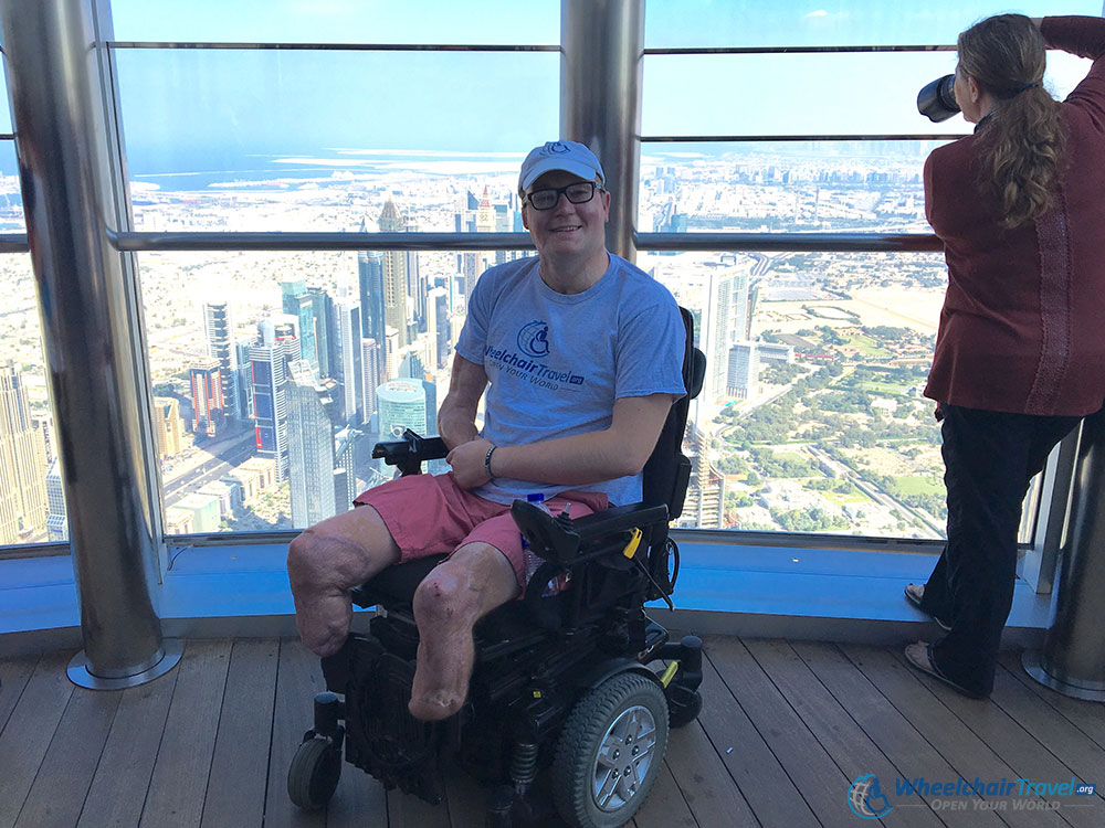 Wheelchair Outdoor Observation Deck Burj Khalifa Dubai
