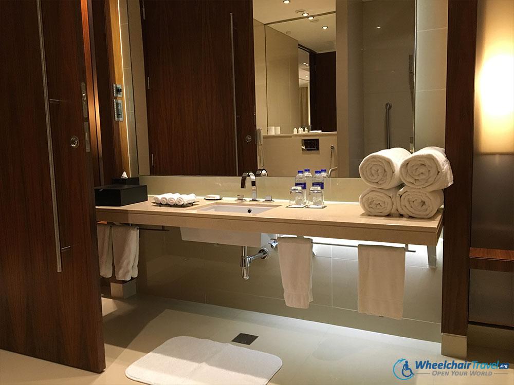JW Marriott Marquis Dubai Wheelchair Accessible Bathroom Sink - Wheelchair accessible bathroom sinks