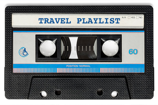 Travel Music Playlist Cassette Tape