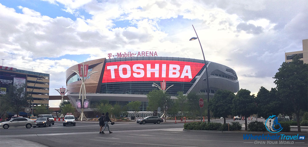 PHOTO DESCRIPTION: The T-Mobile Arena building in Las Vegas, Nevada.