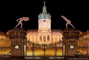PHOTO DESCRIPTION: Charlottenburg Palace at night. © Thomas Wolf www.foto-tw.de.