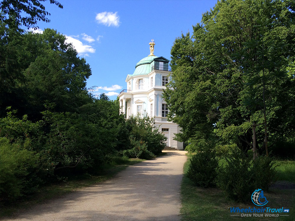 PHOTO DESCRIPTION: Dirt pathway leading to the Mausoleum at Charlottenburg Palace.