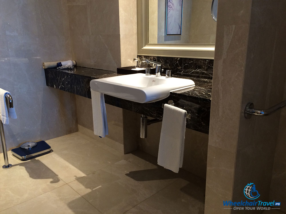 PHOTO DESCRIPTION Wheelchair Accessible Bathroom Sink - Wheelchair accessible bathroom sinks