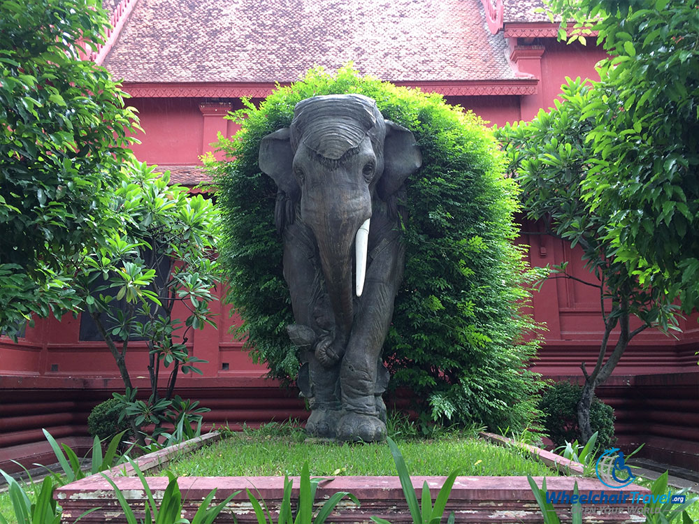 PHOTO: Statue of elephant outside Cambodia National Museum.