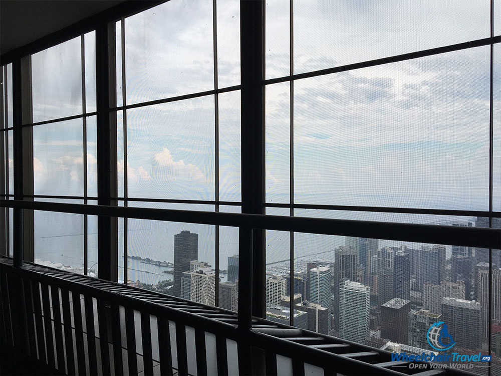 PHOTO: Open-air balcony at 360 CHICAGO observation deck.