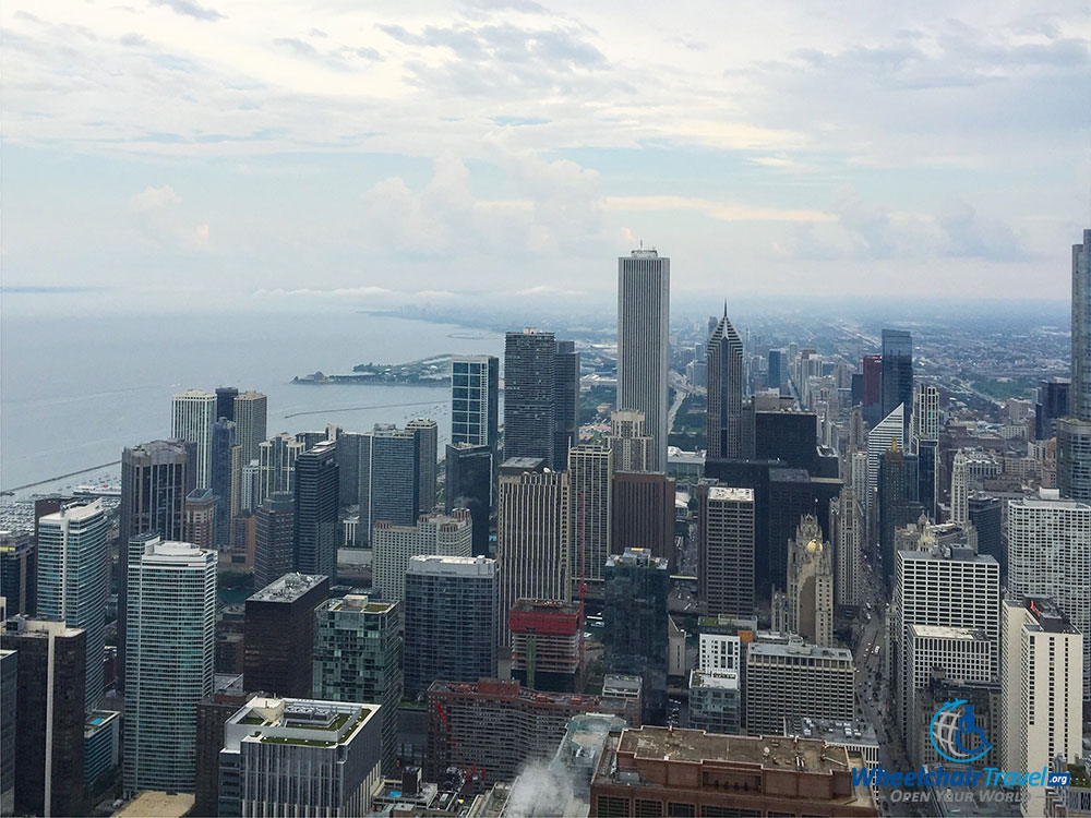 PHOTO: View of Chicago sky mile from 360 CHICAGO observation deck.