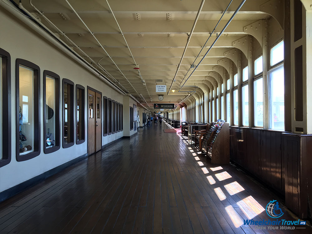 PHOTO: Promenade on the RMS Queen Mary.