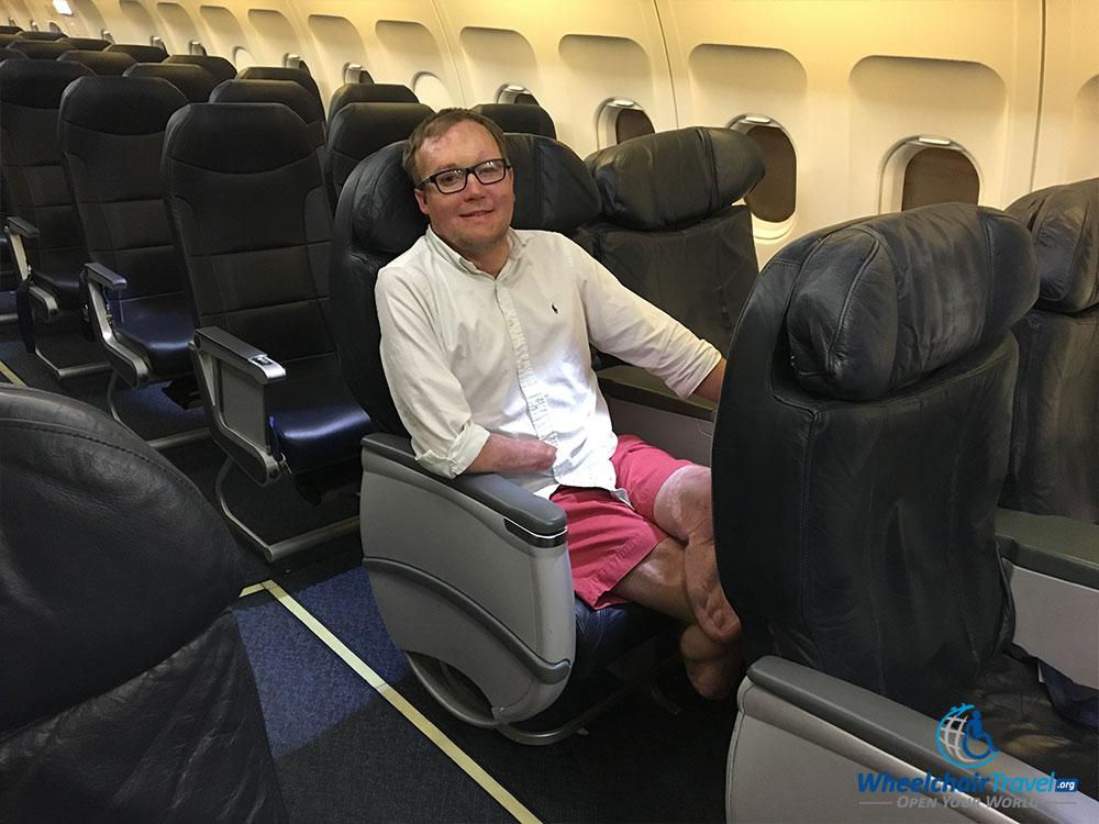 spirit-airlines-big-front-seat - WheelchairTravel org