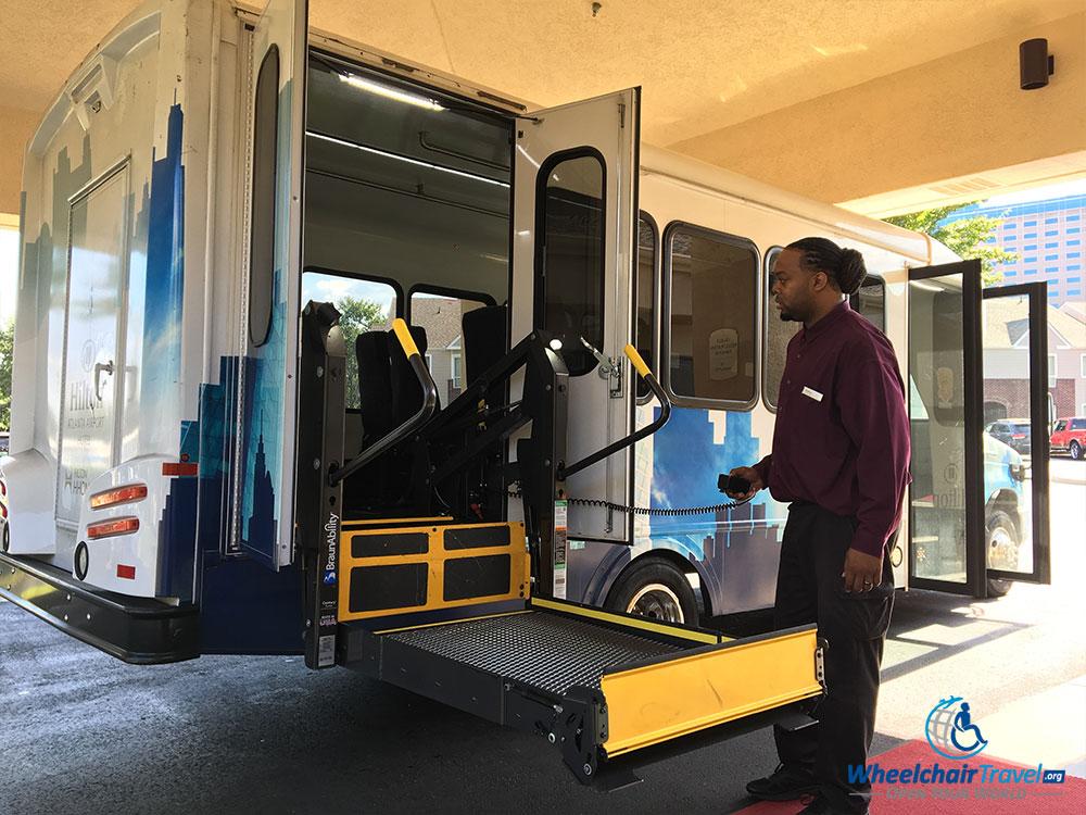PHOTO: Hilton Atlanta Airport's wheelchair accessible shuttle bus.