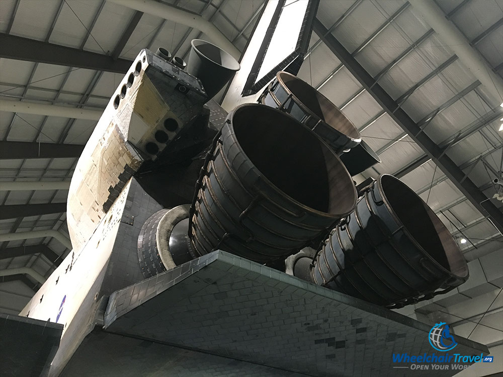 PHOTO: Engine thrusters of the Space Shuttle Endeavour.