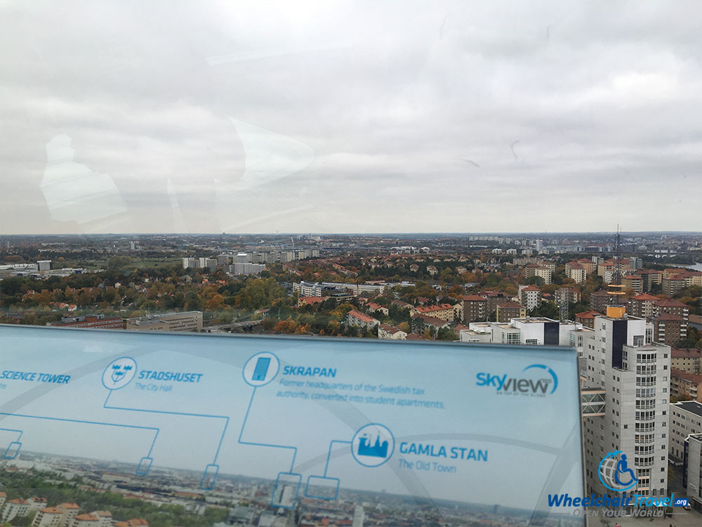 PHOTO: Guide to sights down below on the SkyView Stockholm.