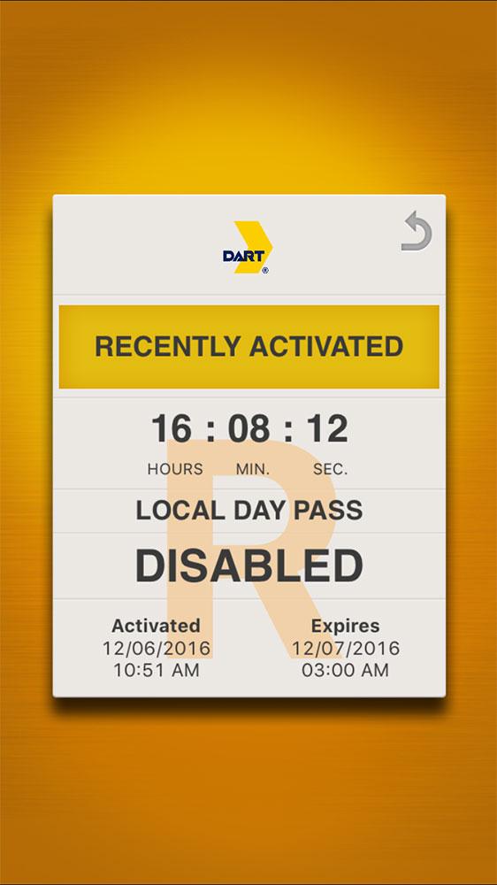 Dallas DART ticket in GoPass mobile app.