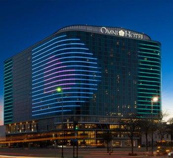 Exterior of the Omni Dallas Hotel