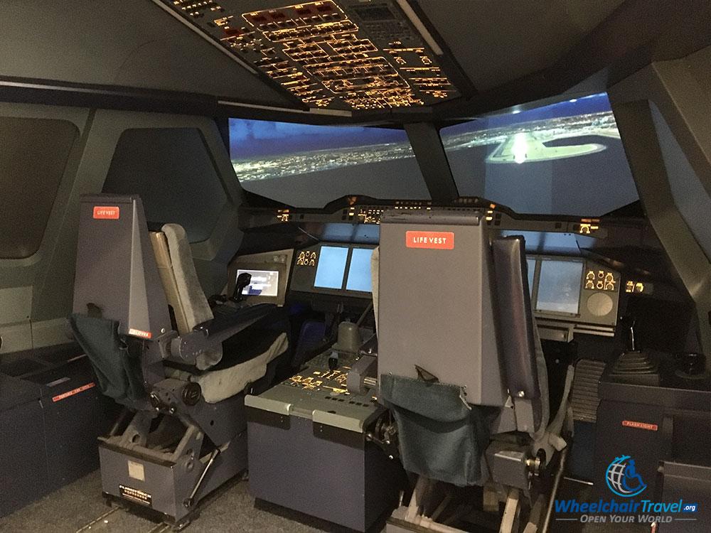 Working flight simulators on the 2nd floor
