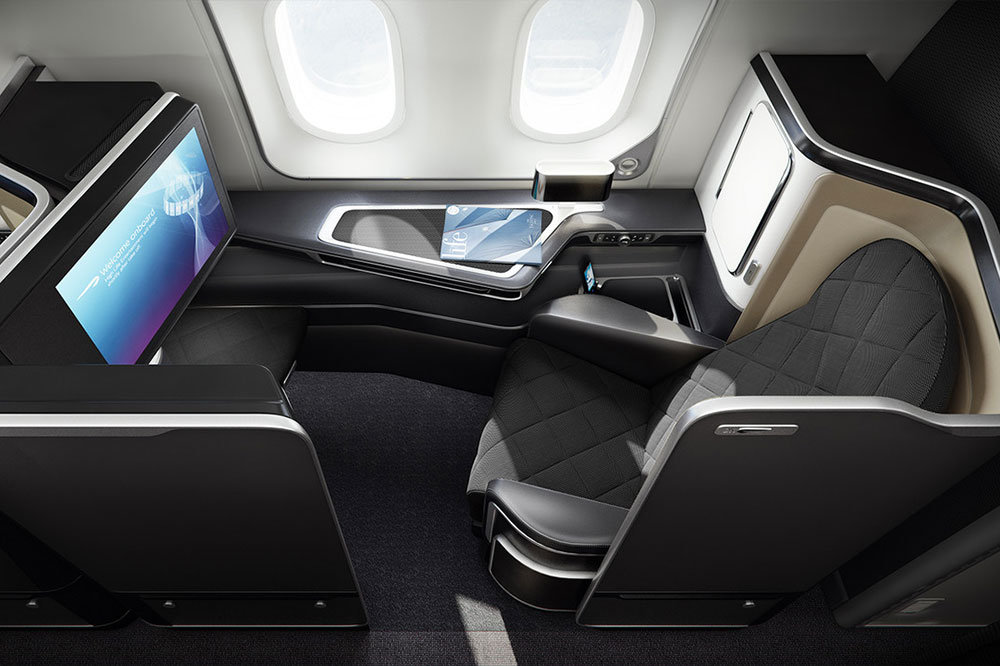 Lay flat seat in British Airways First Class