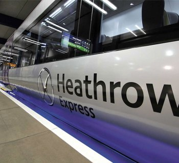 Heathrow Express train at LHR Airport Central Station