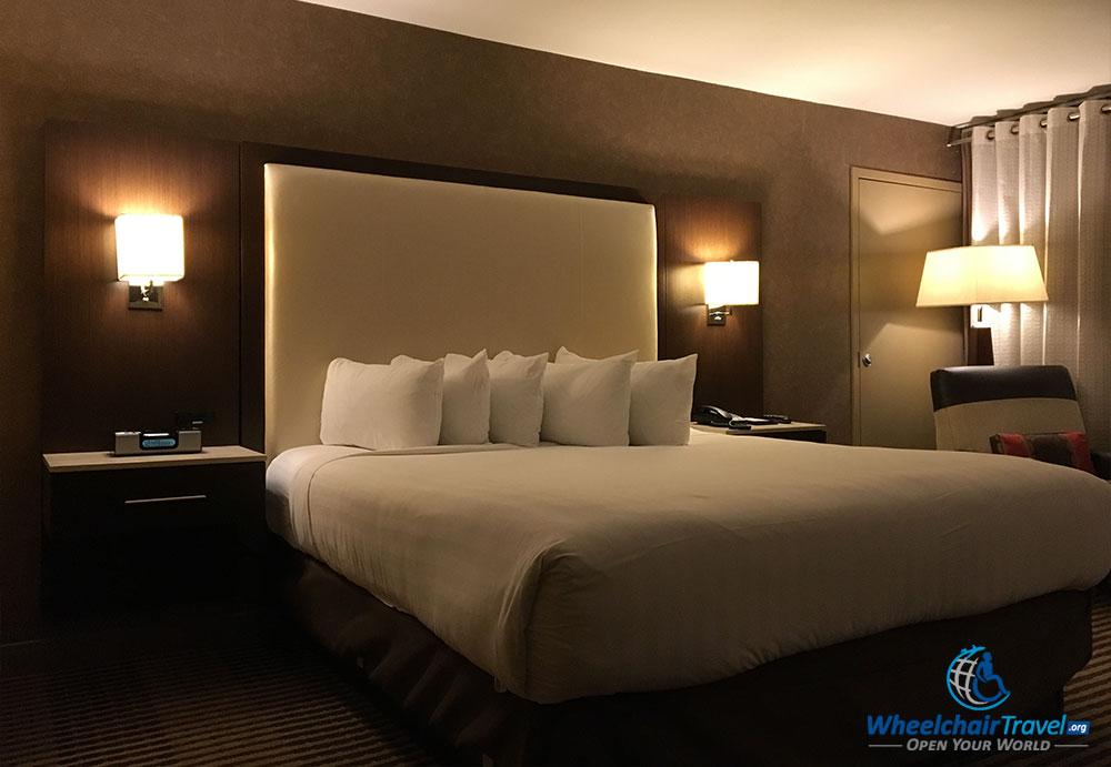 King size bed at Hyatt Regency DFW Airport Hotel