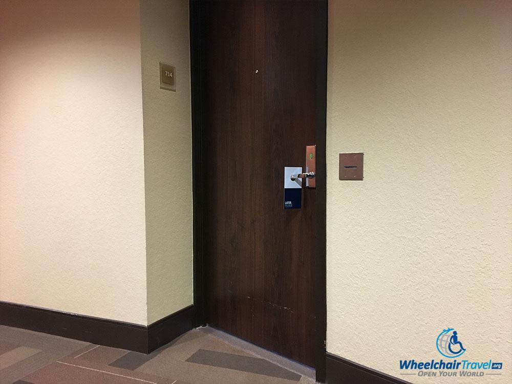 Room #714 door with keycard access