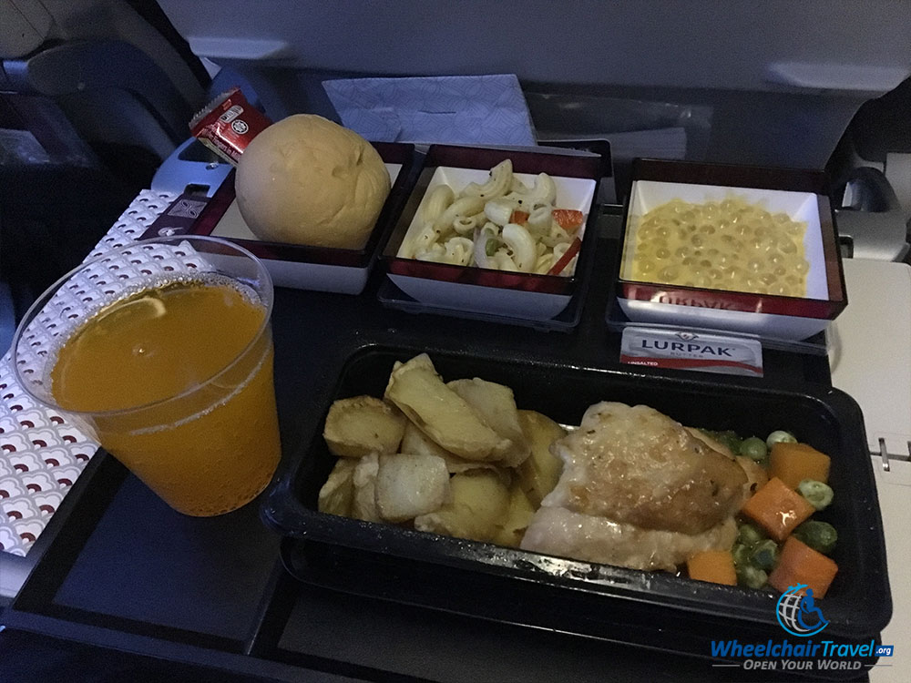 Qatar Airways economy class meal