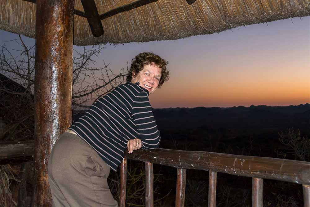 Pippa taking in the African sunset