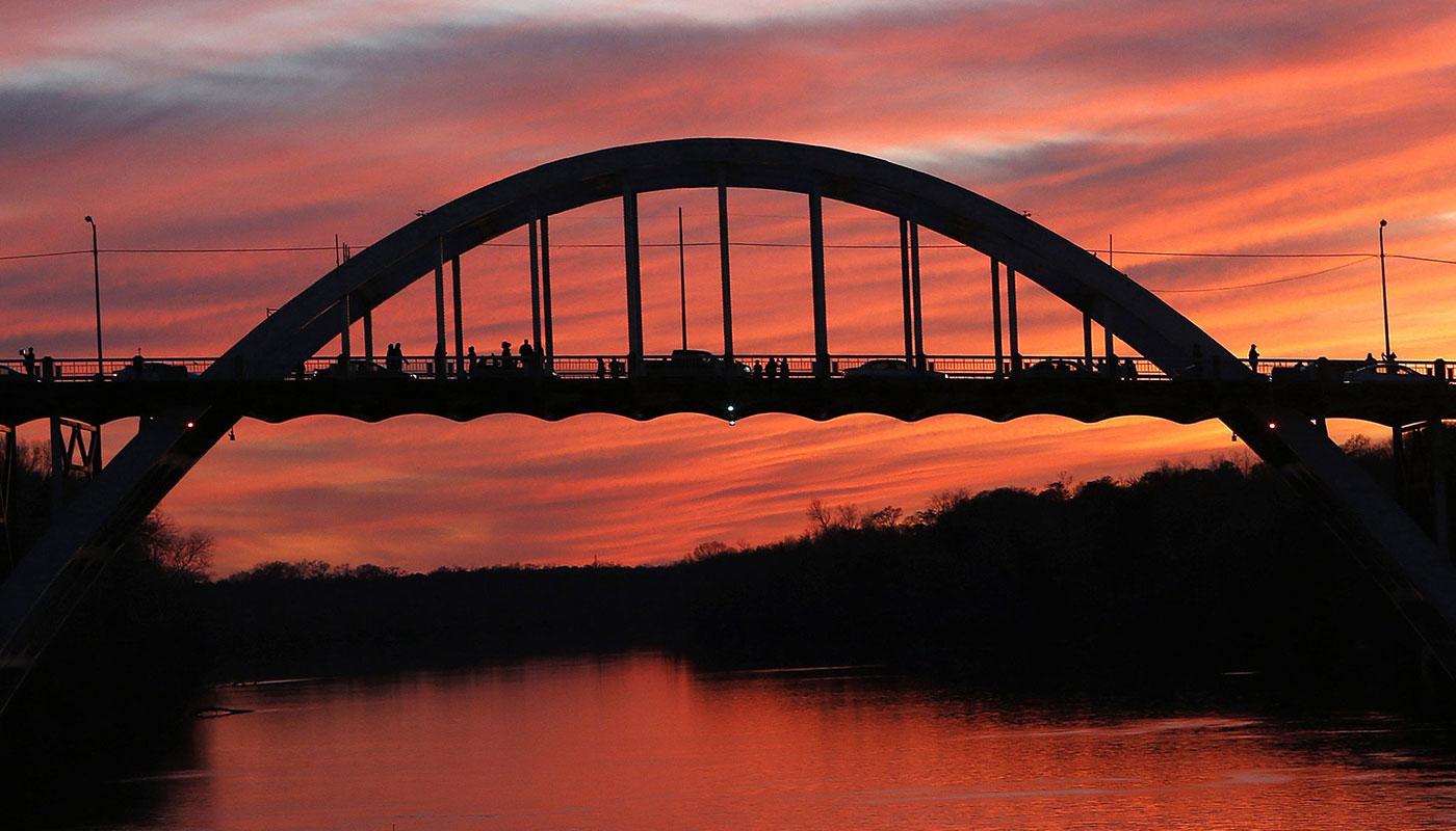 Edmund Pettus Bridge at sunset