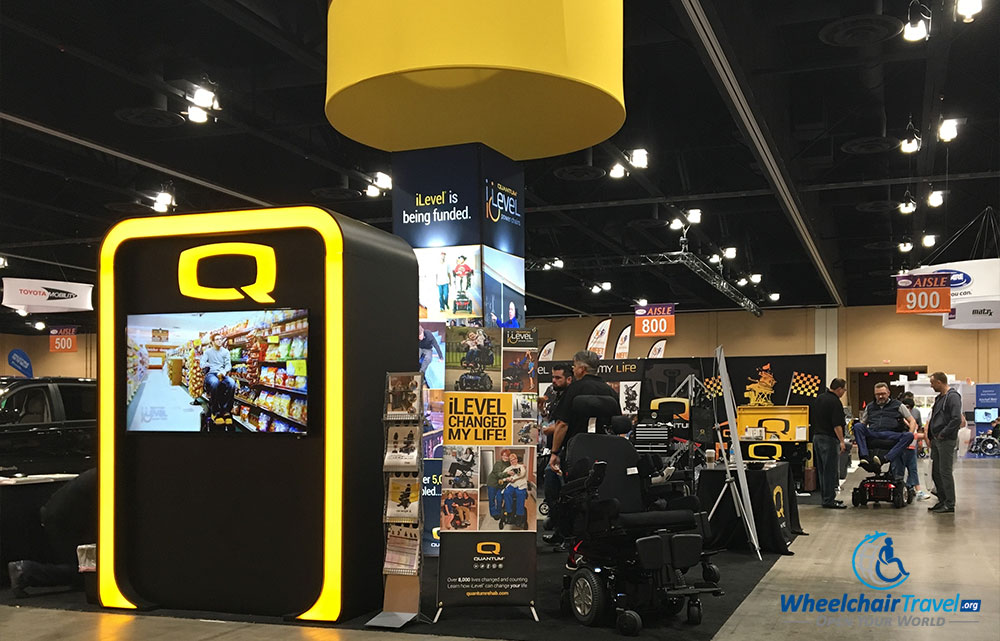 Wheelchair manufacturer Quantum Rehab at the 2017 Chicago Abilities Expo.