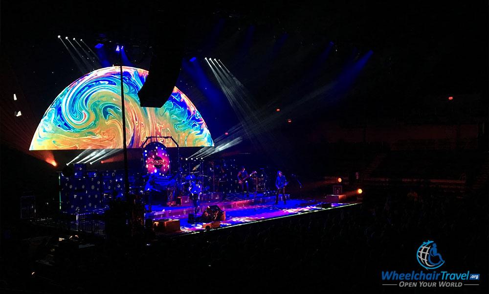 The band Boston onstage at the Von Braun Center.