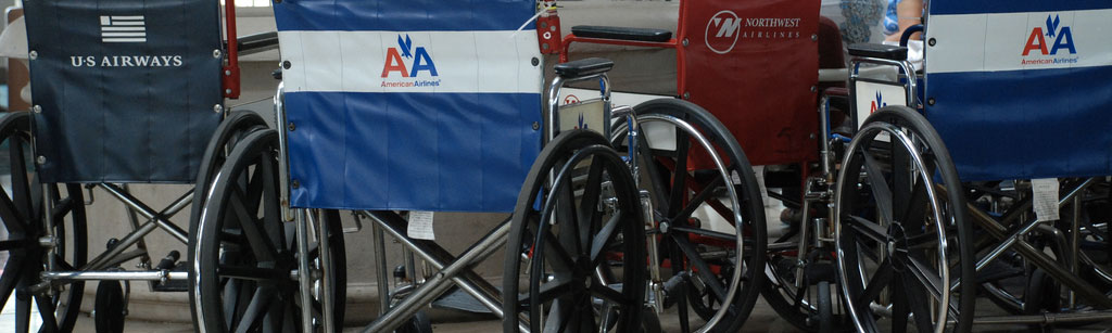 Wheelchairs at airport - Report airlines for Air Carrier Access Act violations and disability discrimination
