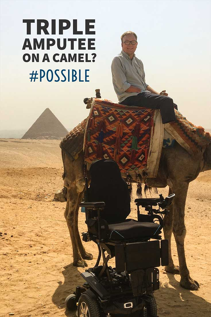 Anything is possible for wheelchair users, including riding a camel around the Ancient Egyptian Pyramids of Giza! Everything you need to know to plan an accessible trip of your own!